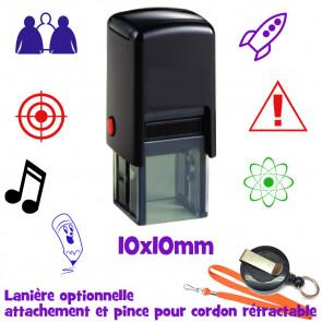 Tampon Personnalisé | Tampons Auto Encreurs (Rond ou Carré) 10mm