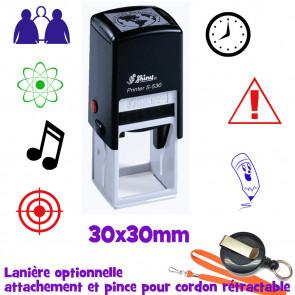 Tampon Personnalisé | Tampons Auto Encreurs (Rond ou Carré) 30mm