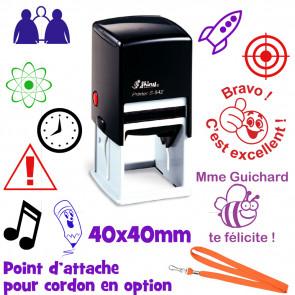 Tampon Personnalisé | Grand Tampon Encreur 40mm. Rond / Carré