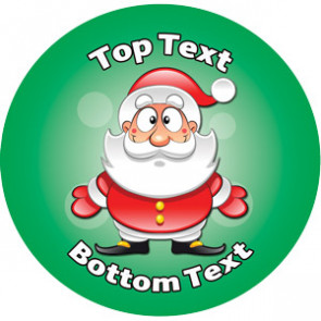 Personalised School Stickers | Father Christmas Design Custom Standard and Scented Stickers