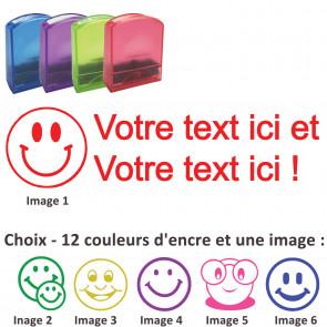 Tampons Encreurs   Smiley-Tampon Personnalisé Pour Enseignant