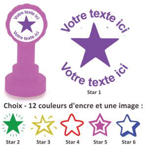 Tampons Encreur | Images Étoiles - Tampon Personnalisé Pour Enseignant.