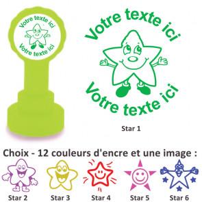 Tampons Encreur | Images Étoiles Smiley - Tampon Personnalisé Pour Enseignant