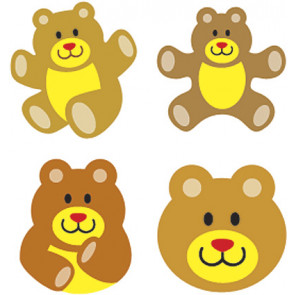 Children's Reward Stickers | Teddy Bear SuperSpots -  Great for Reward Charts