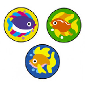 Children's Reward Stickers | Fabulous Fish SuperSpots -  Great for Reward Charts & Crafts