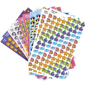 Childrens stickers | Small Animal Designs Variety Pack (Sea Life, Penguins, Lion, Zebra, Butterflies, Bears)