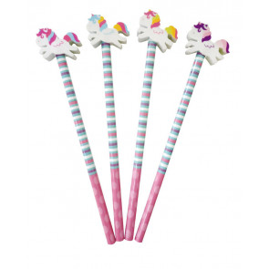 End of Term Gifts | Owl Design Pencils with Large Owl Eraser Topper