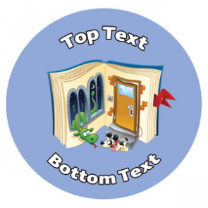 Personalised School Stickers   Reading Imagination Design Custom Standard and Scented Stickers. Free Delivery