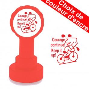 Tampon Enseignant  | Courage Continue ! Tampon Encreur