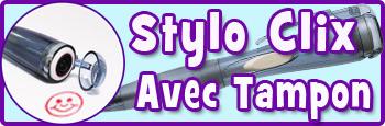 Stylo Clix Avec Tampon Encreur