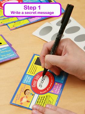 Scratch Stickers - Step 1